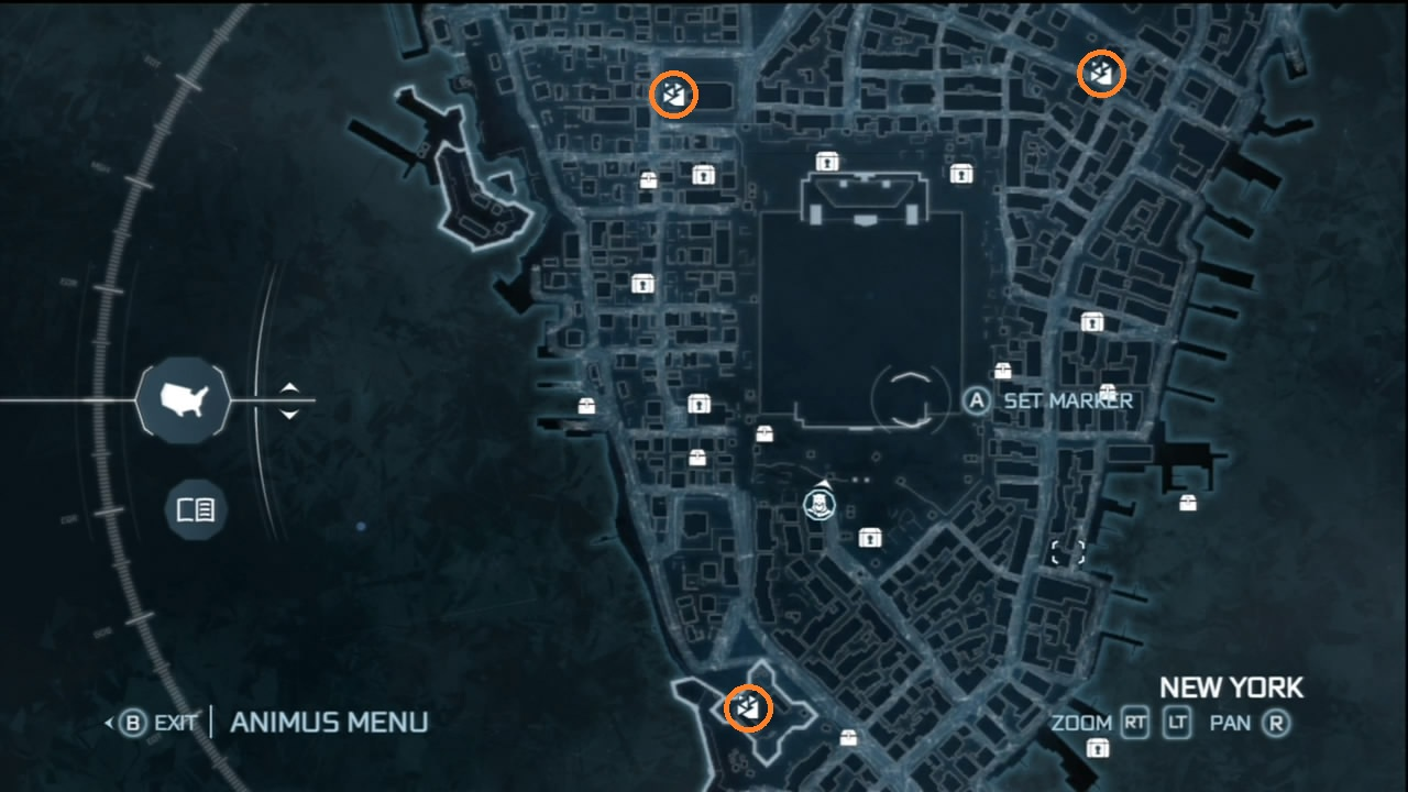Map Of New York Underground Tunnels In Assassins Creed 3.Assassin S Creed Iii Achievement Guide Road Map Xboxachievements Com