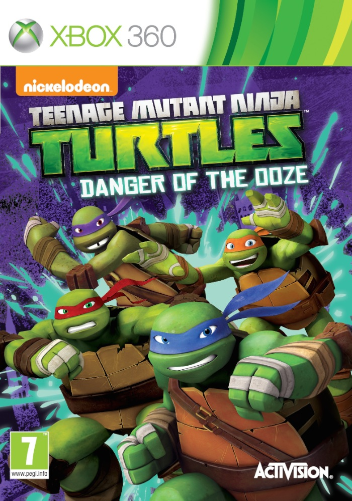 Teenage Mutant Ninja Turtles Danger of the Ooze XBOX 360 Cover Caratula