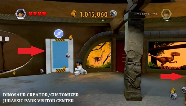 Lego jurassic world achievement guide road map press until you exit the customizer unlocking the achievement gumiabroncs Choice Image