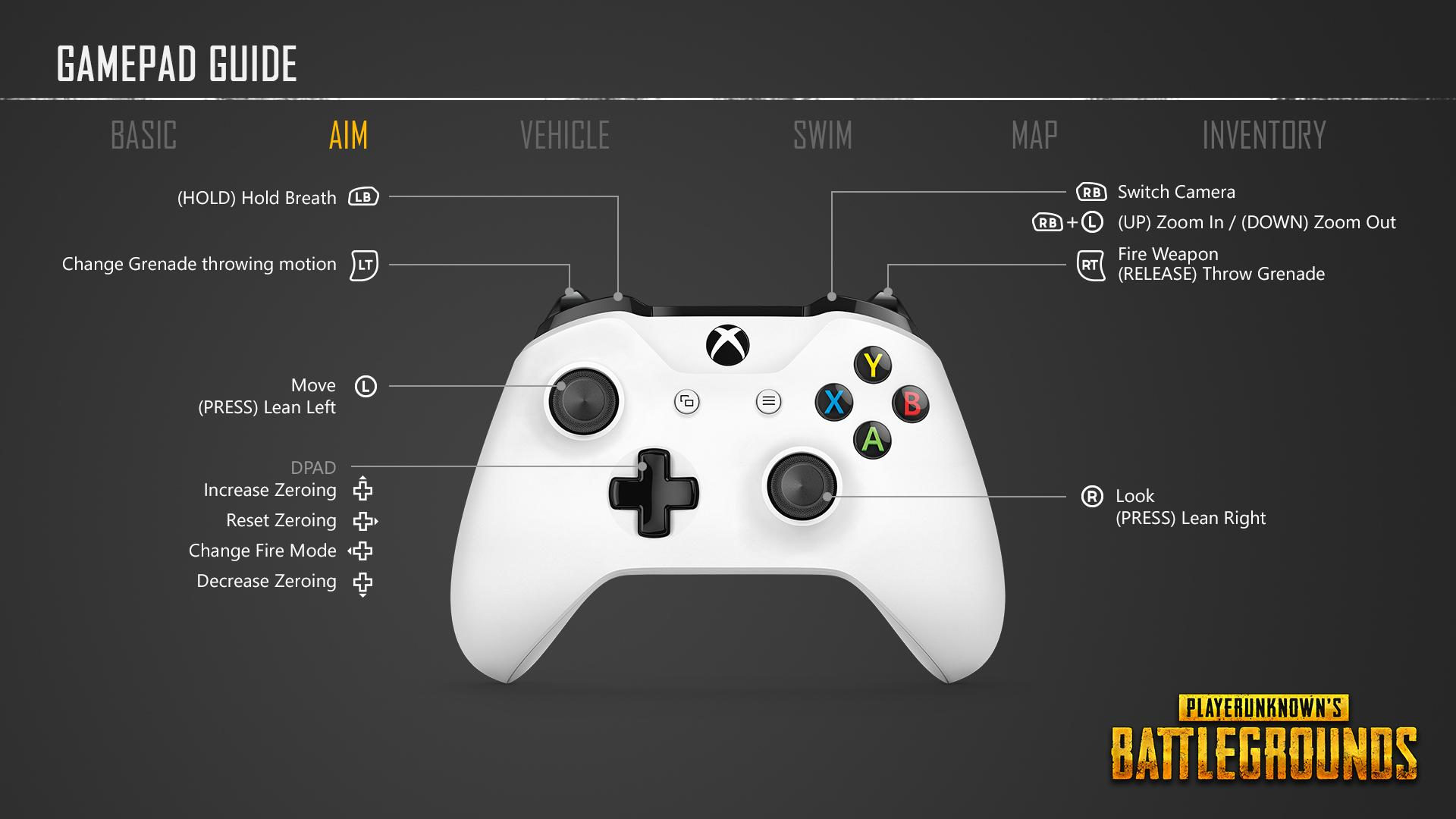 Here\'s a Look at PUBG\'s Xbox One Control Scheme - Xbox One, Xbox 360 ...