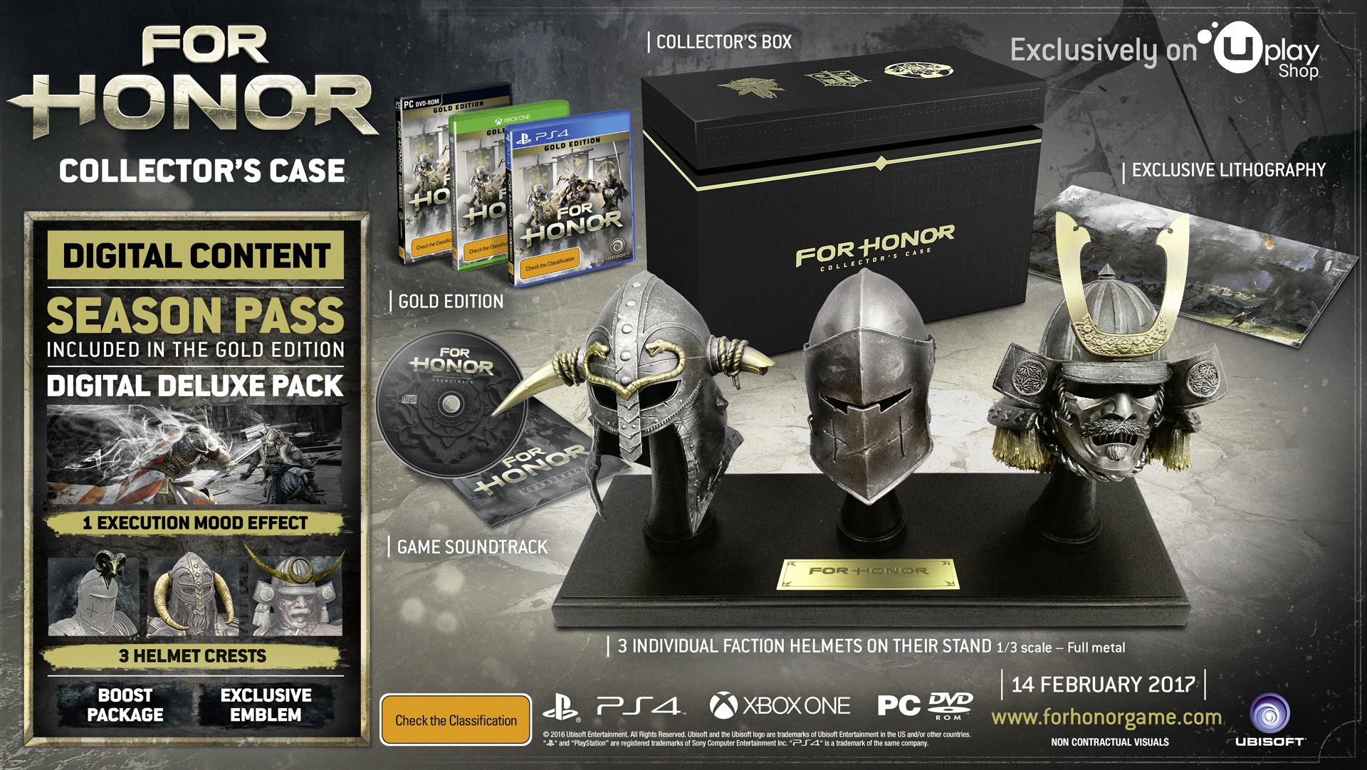 For Honor Reveals Collector's Case & Exclusive Costumes For