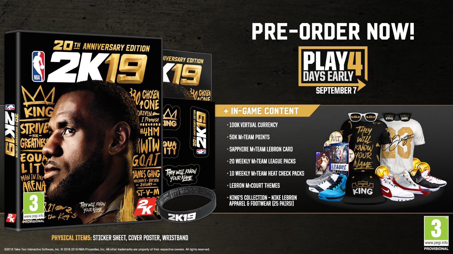 NBA 2K19 Announced For September With LeBron James Cover ...