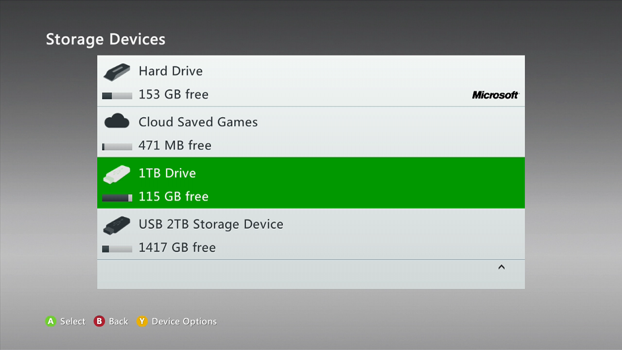 xbox one how to format external hard drive