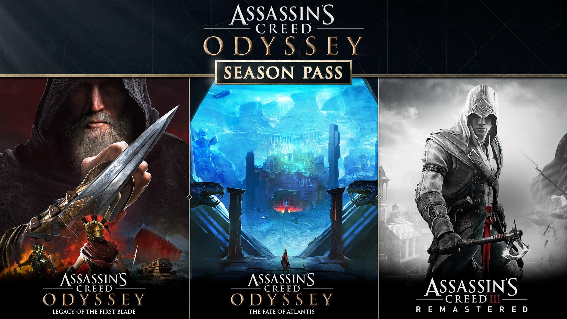 Assassin's Creed Odyssey post-launch and Season Pass content detailed
