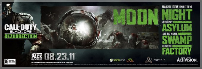 Call of duty black ops all zombie rezurrection map pack coming of duty black ops with the four world at war zombies maps the rezurrection map pack will be completely free and will include the new moon map and all gumiabroncs Choice Image