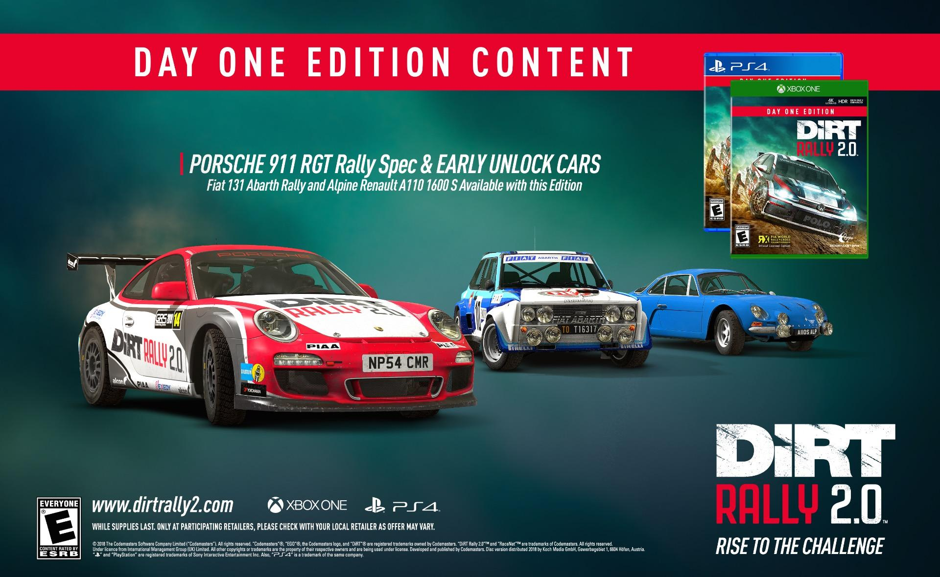 Dirt Rally Xbox One : dirt rally 2 0 day one edition content unveiled xbox one xbox 360 news at ~ Aude.kayakingforconservation.com Haus und Dekorationen