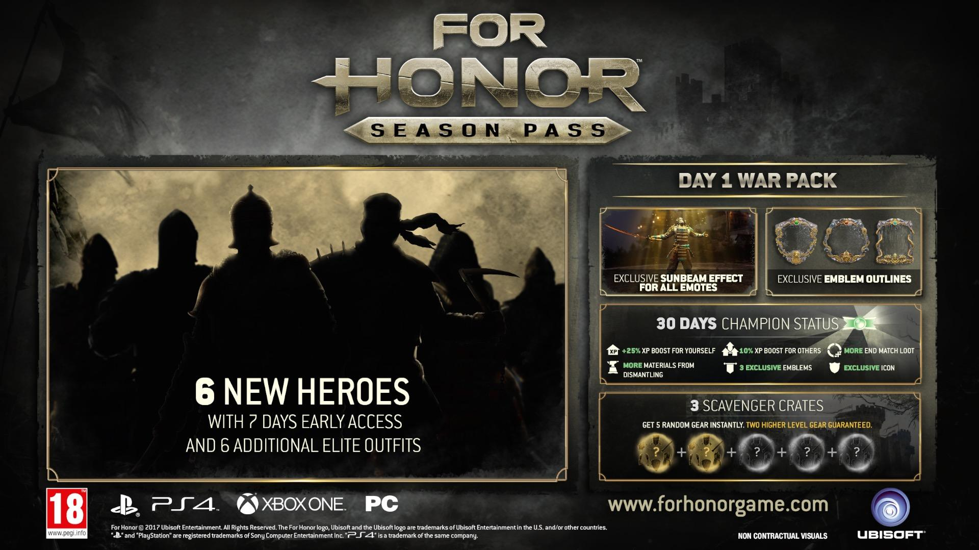 For honor 39 s season pass revealed includes six new heroes xbox one xbox 360 news at - When is for honor season 6 ...
