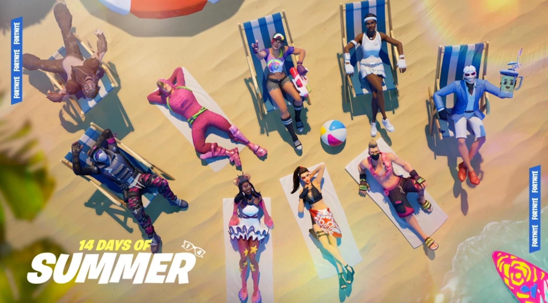 Fortnite 14 Days of Summer Unvaulted Weapons List