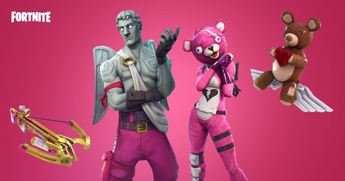 Fortnite Releases Valentine's Patch Notes with a Crossbow and New Skins