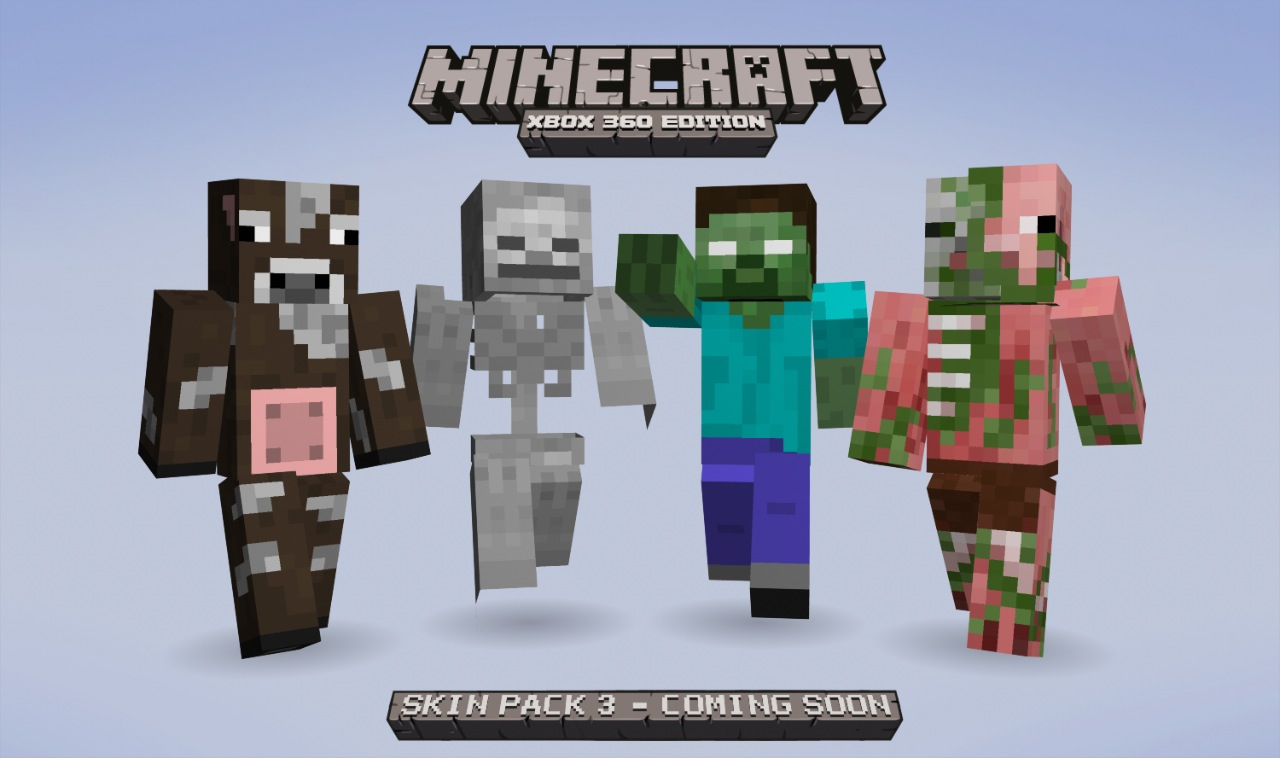 Minecraft: xbox 360 edition skin pack 3 coming soon