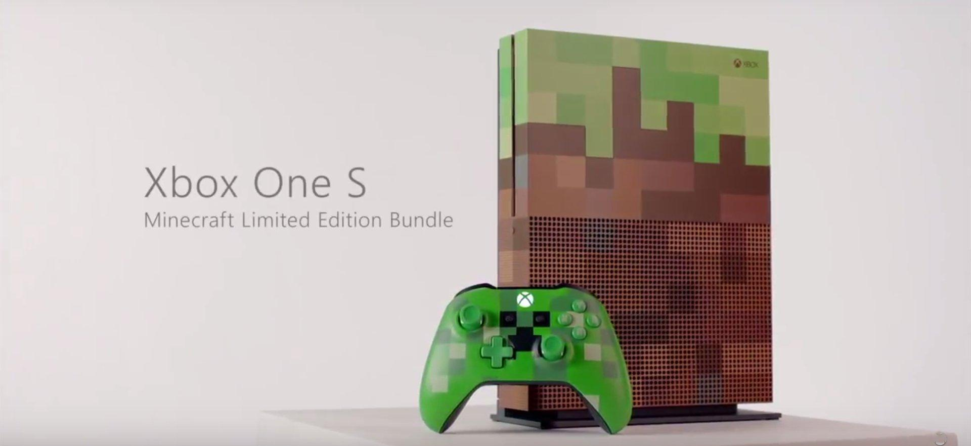 minecraft xbox one s limited edition bundle coming in. Black Bedroom Furniture Sets. Home Design Ideas