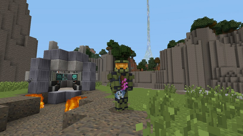 Minecraft Xbox 360 Edition Getting A Halo Texture Pack