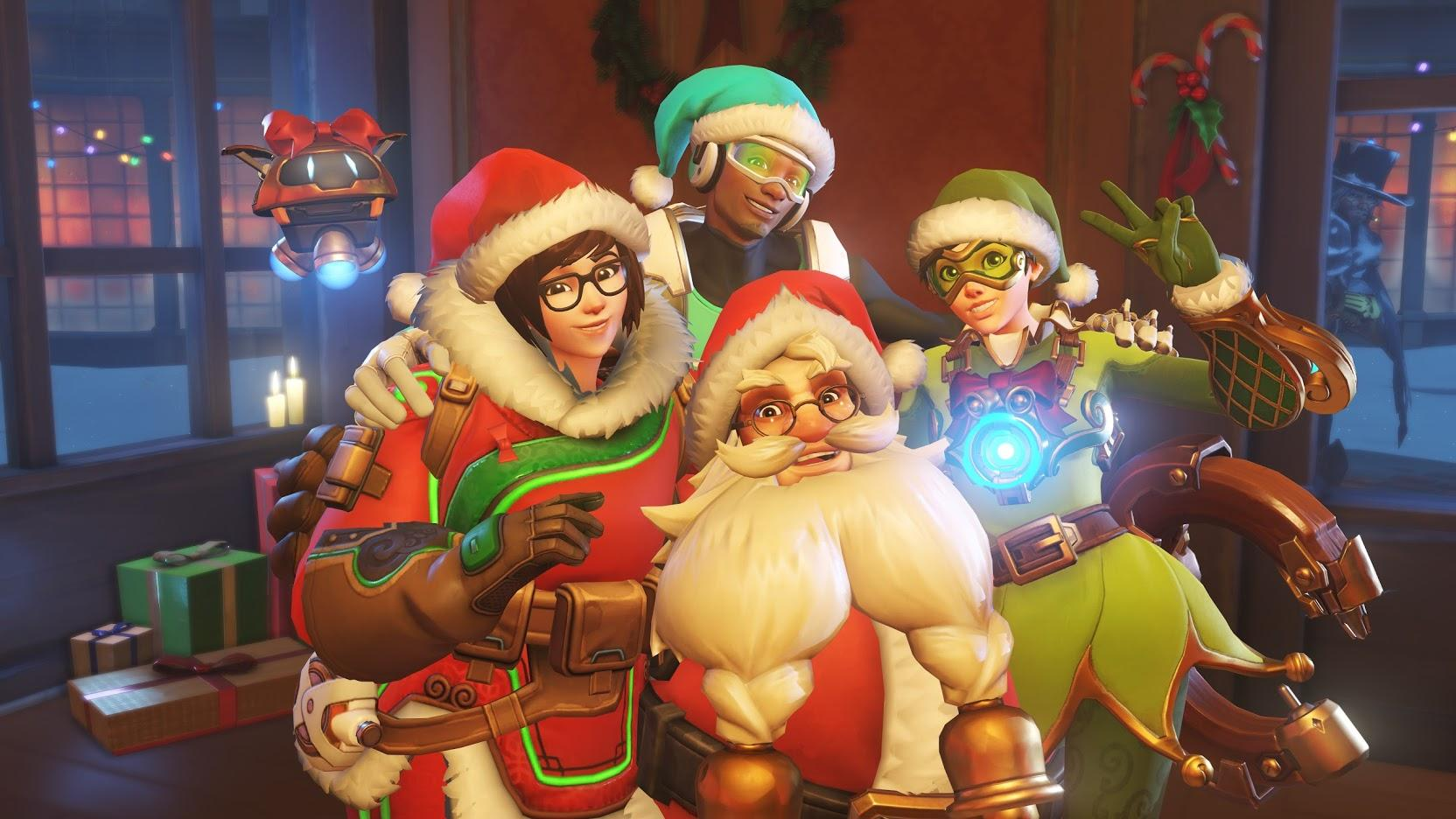 Overwatch's holiday event has a five-on-one Yeti boss fight mode