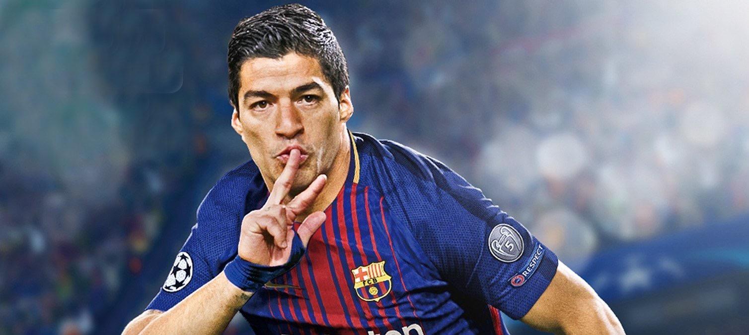 Luis Suarez Announced as PES 2018 European Cover Star ...