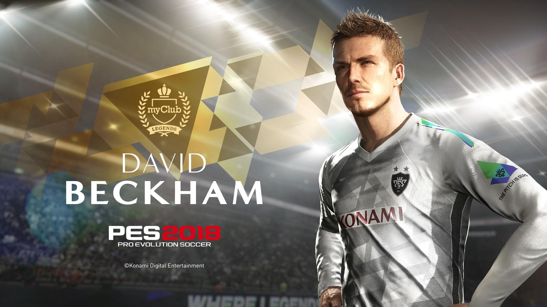 PES 2018 signs up David Beckham as a PES Legend Ambassador