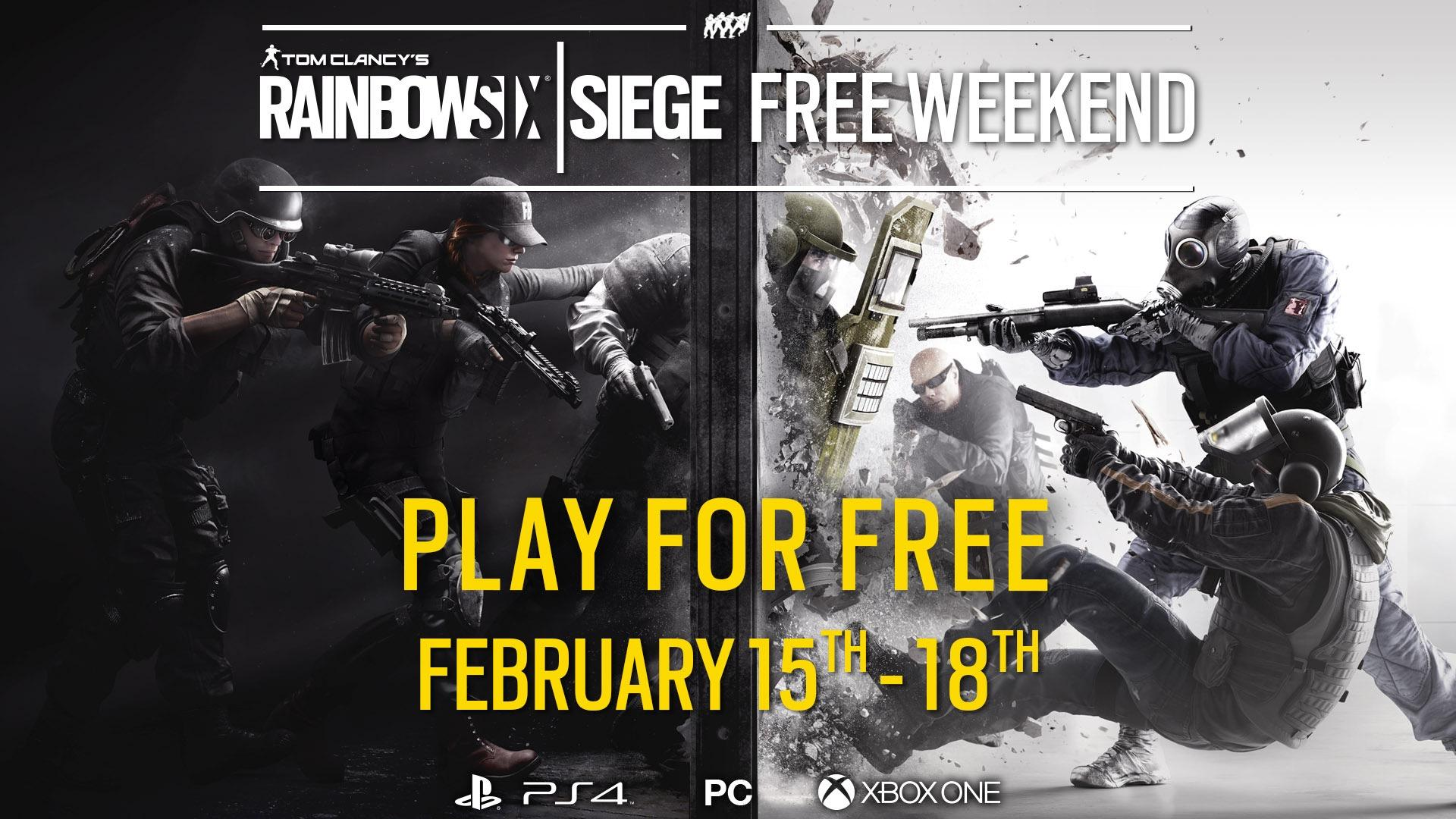 Rainbow Six Siege is free to play this weekend
