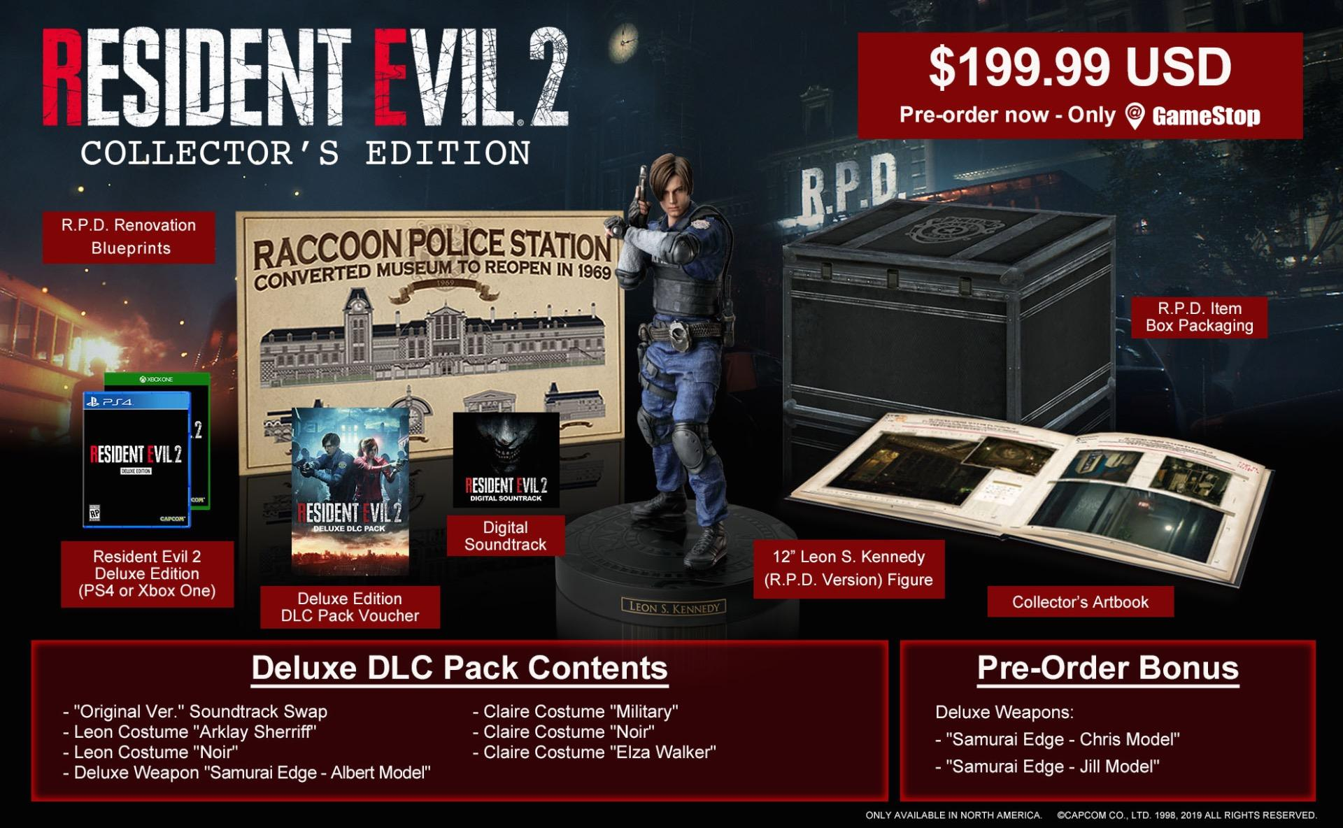 New Resident Evil 2 Remake Details And Collector's Edition Announced