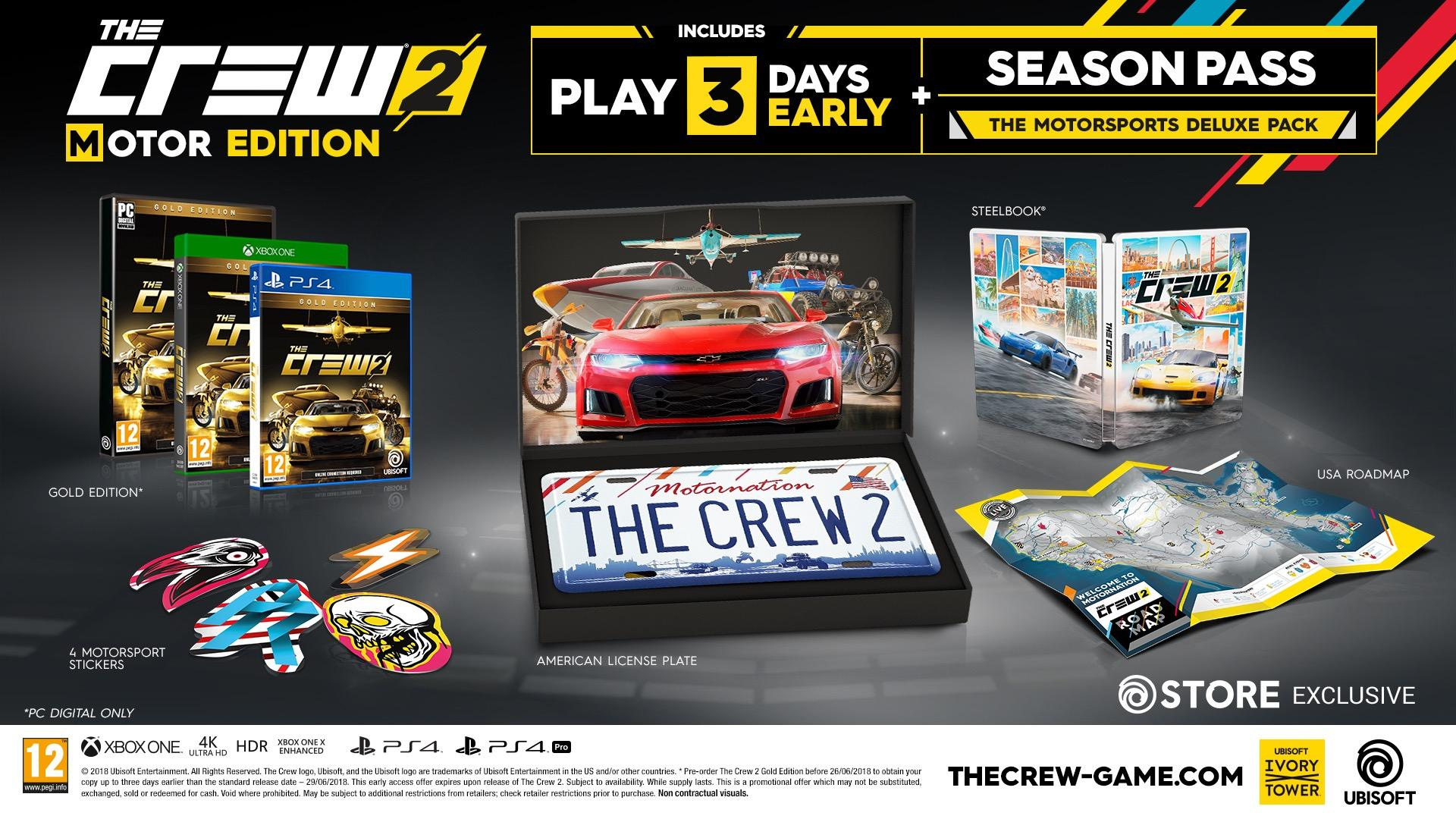 the crew 2 late june release date announced xbox one. Black Bedroom Furniture Sets. Home Design Ideas