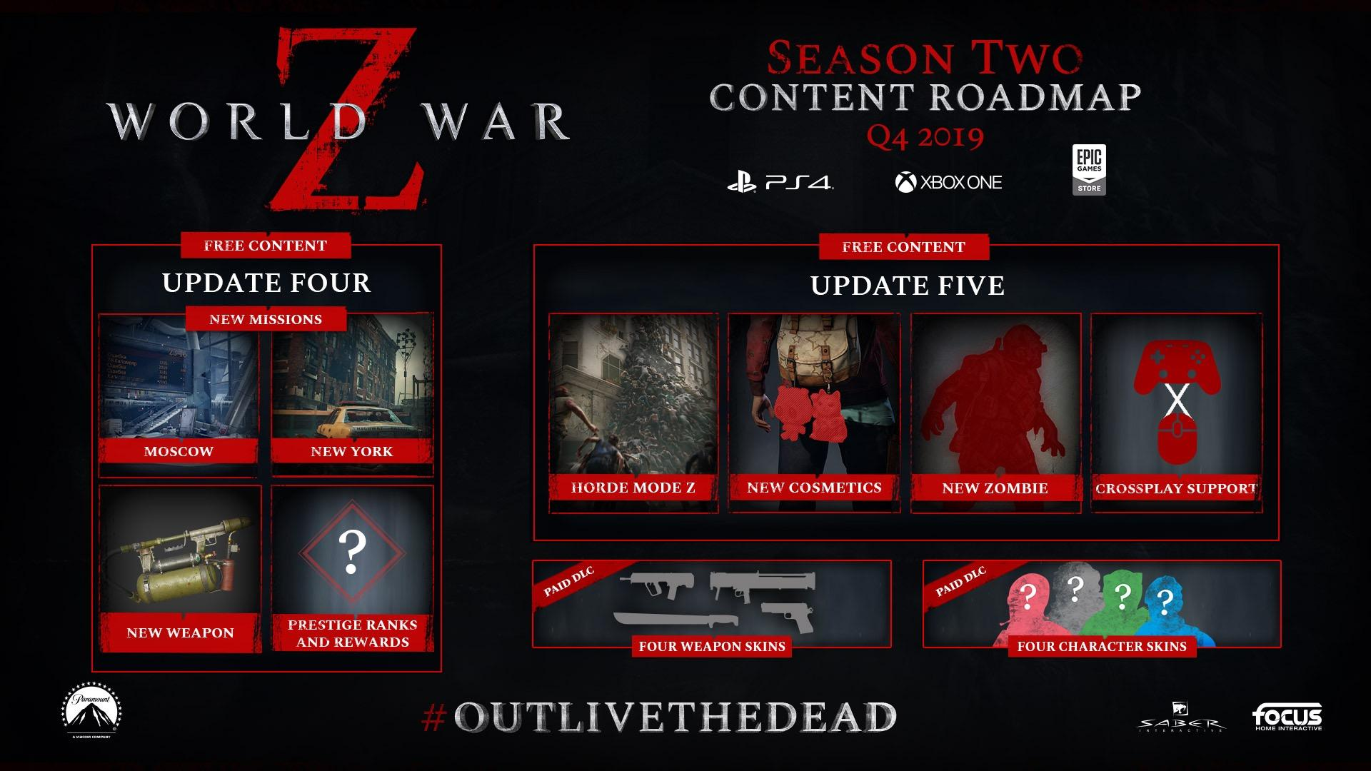 World War Z content update brings two new PvE missions and a horde mode
