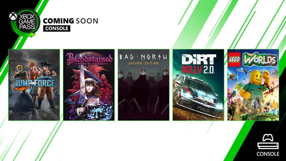 Xbox Game Pass Getting Jump Force, Bloodstained, and More