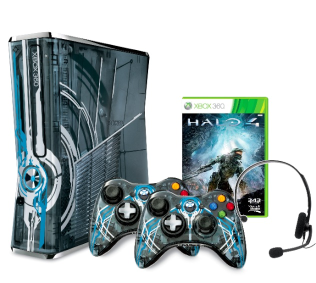 Halo 4 Limited Edition Console Xbox360_HALO4_320GB_Console_WE_Groupshot