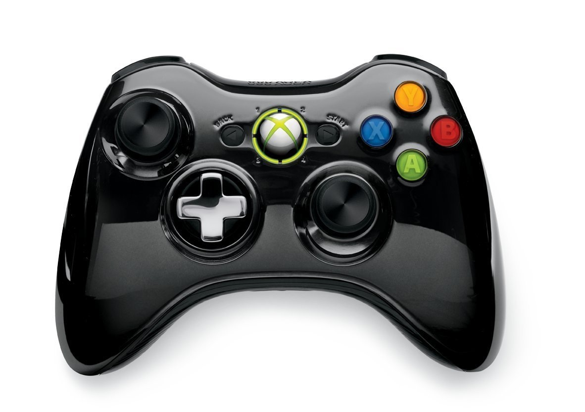 new 39 chrome black 39 xbox 360 controller coming next month. Black Bedroom Furniture Sets. Home Design Ideas