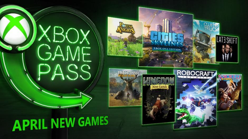 Xbox Game Pass Reveals New Games for April 2018
