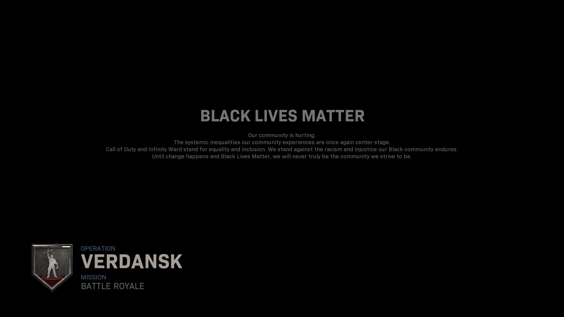 'Call Of Duty' Implementing Anti-Racism Measures, Adds Black Lives Matter Screen