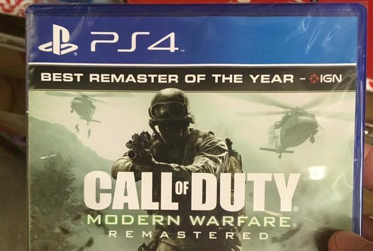 Standalone PS4 Version of Modern Warfare Remastered Box Art Leaked