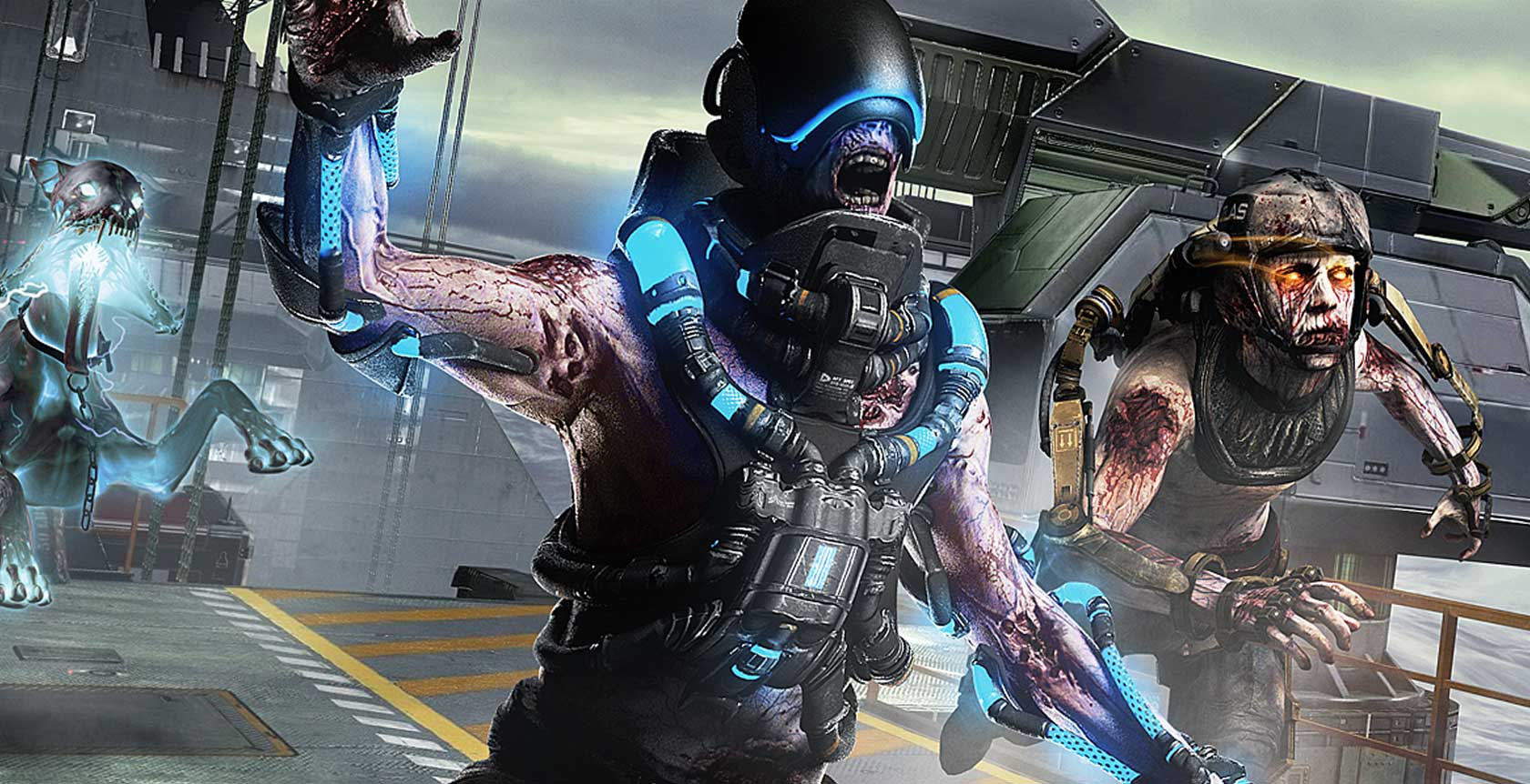 Call Of Duty Advanced Warfare Exo Zombies Carrier Trailer Stars A Zombie Shark Xbox One Xbox 360 News At Xboxachievements Com