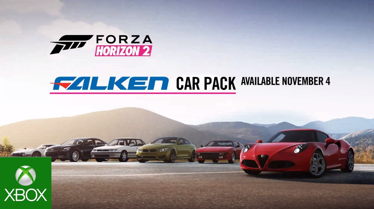 forza horizon 2 falken car pack out now xbox one xbox. Black Bedroom Furniture Sets. Home Design Ideas