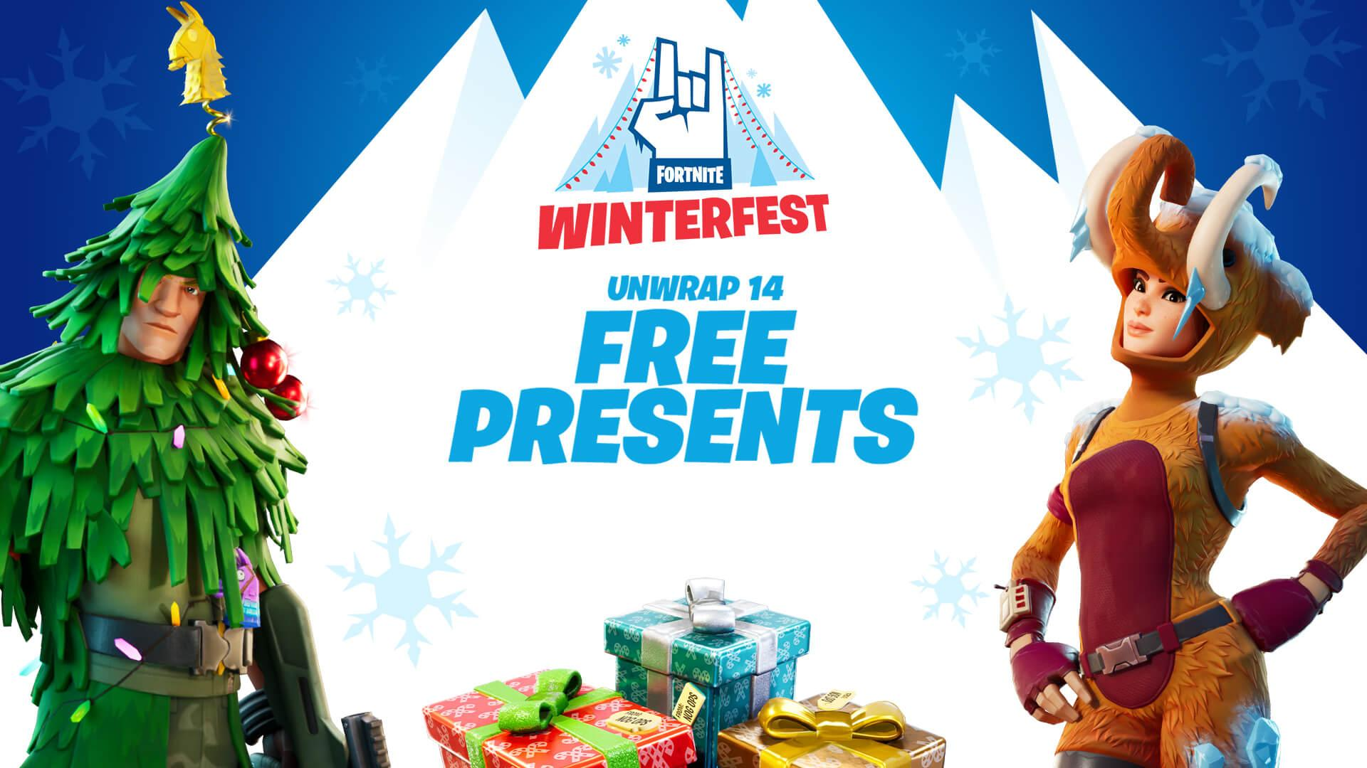 Fortnite Gets Christmassy Winterfest Begins Xbox One