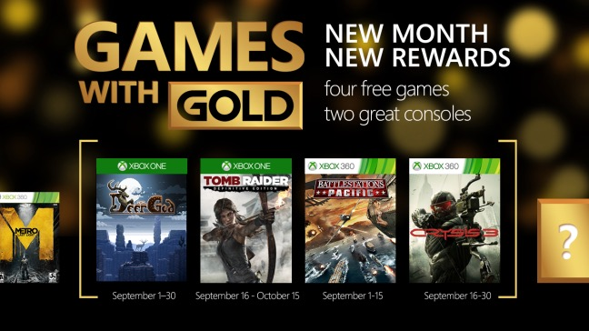 free games with gold xbox 360 august 2014