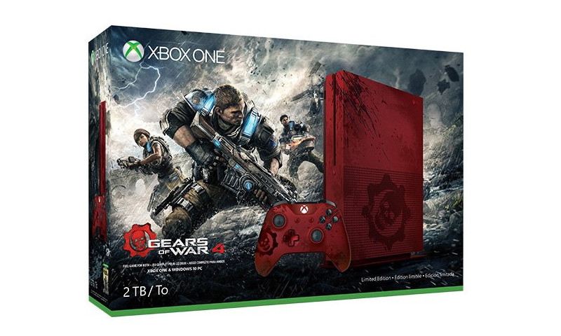 gears of war 4 xbox one s console leaked xbox one xbox. Black Bedroom Furniture Sets. Home Design Ideas