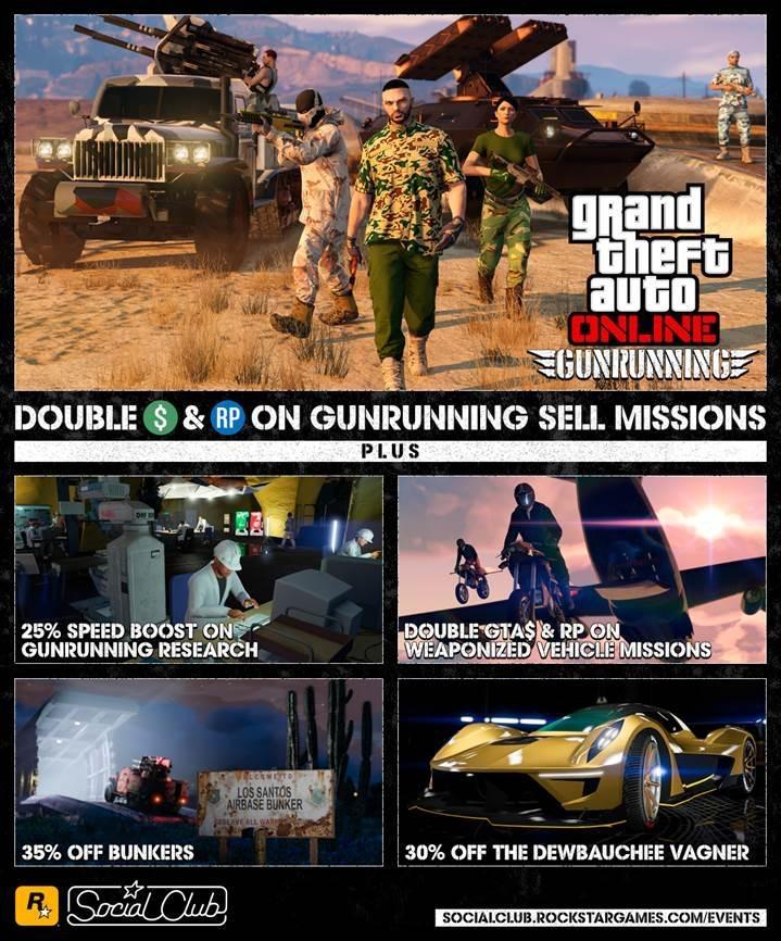 GTA Online Gunrunning Sell Missions Reap Double Rewards This Week