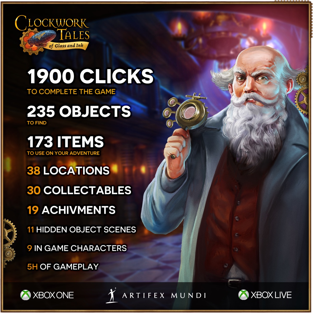Clockwork Tales Of Glass and Ink Achievements