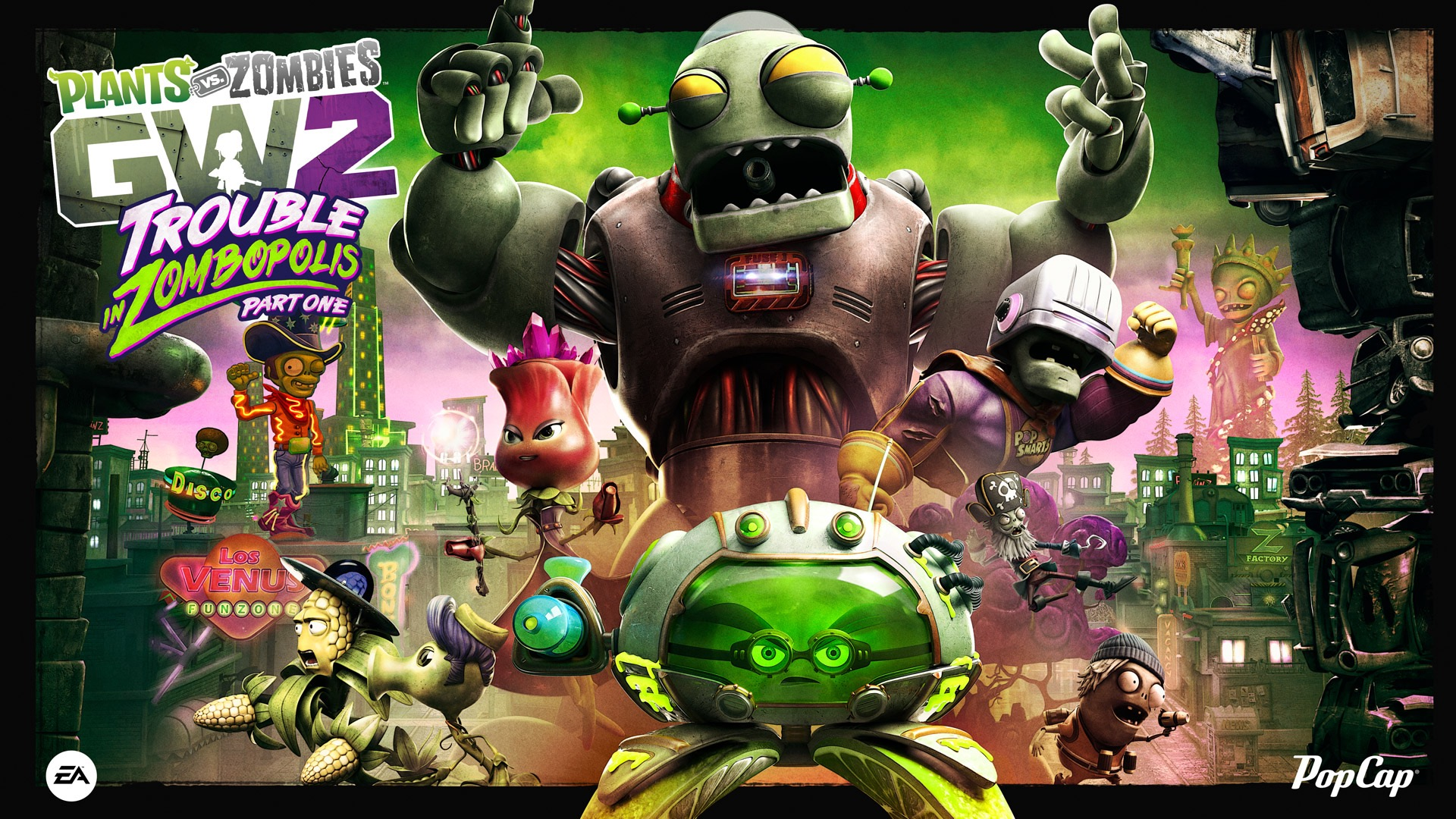 Plants Vs Zombies Garden Warfare 2 Gets Free Trouble In Zombopolis Dlc Xbox One Xbox 360