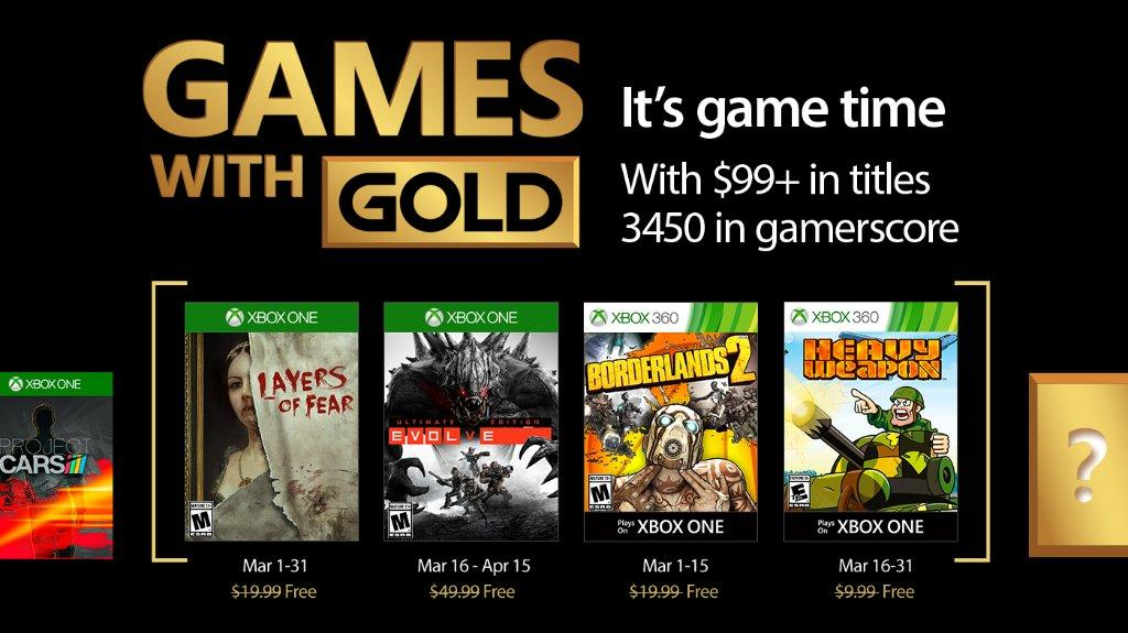 Evolve, Borderlands 2 among March Xbox Games With Gold titles