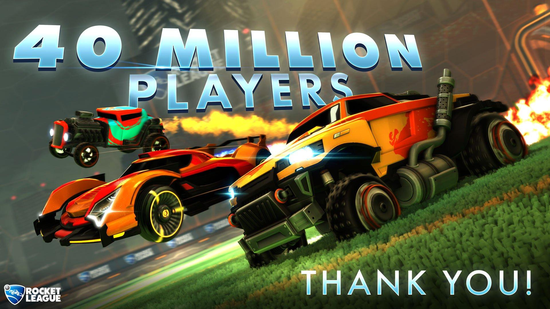 Rocket League Has Officially Crossed the 40 Million Player Count Mark