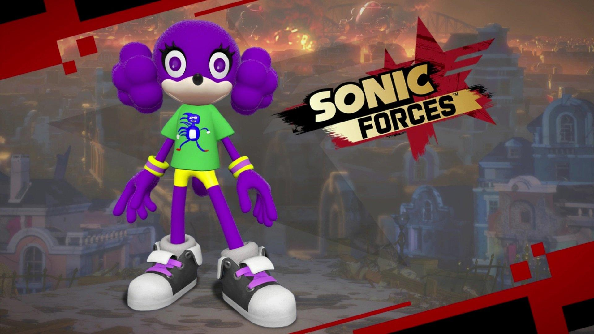 A free Sanic T-shirt DLC is now available for Sonic Forces