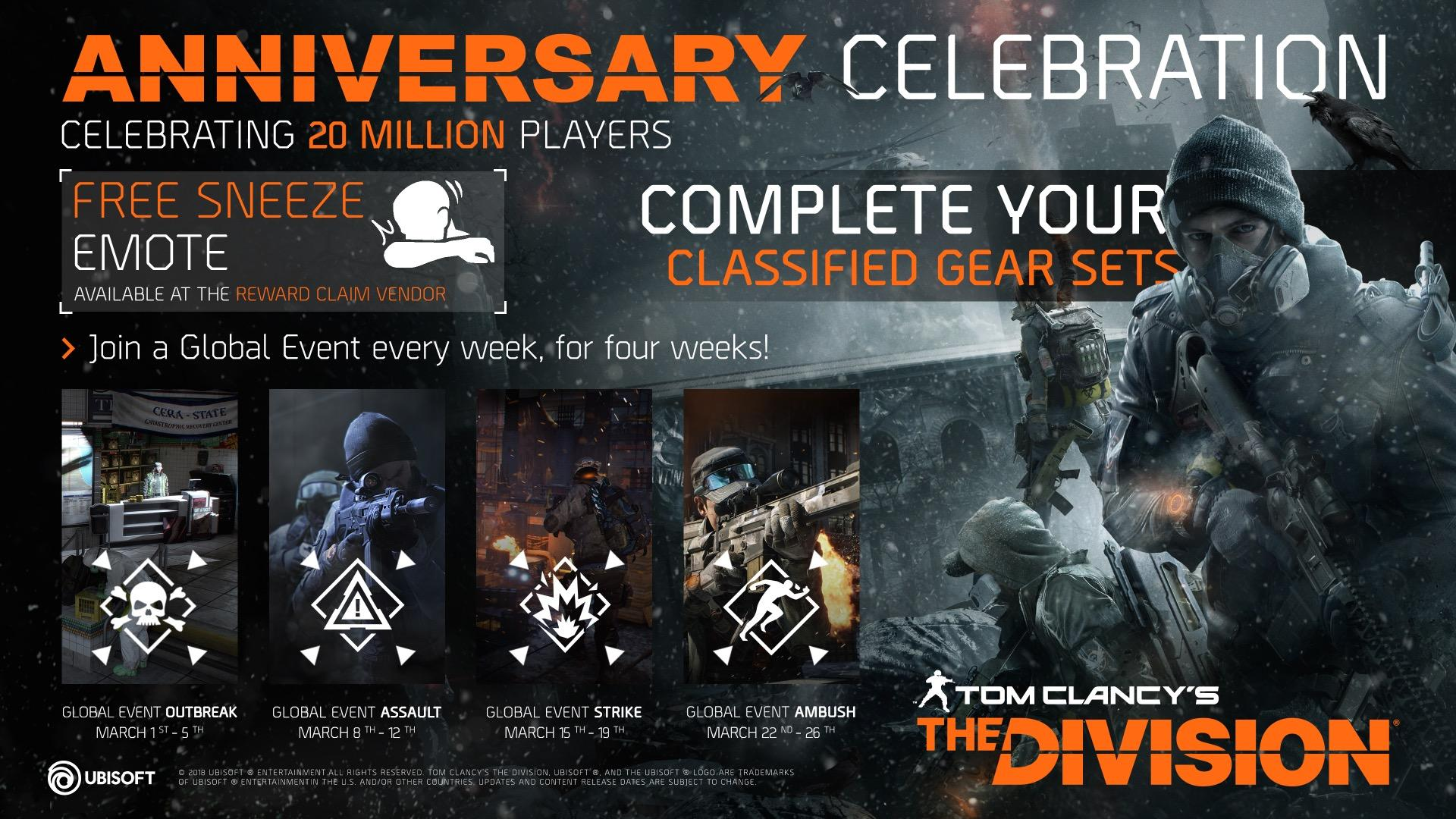 The Division Turns 2, Reaches 20 Million Players Milestone