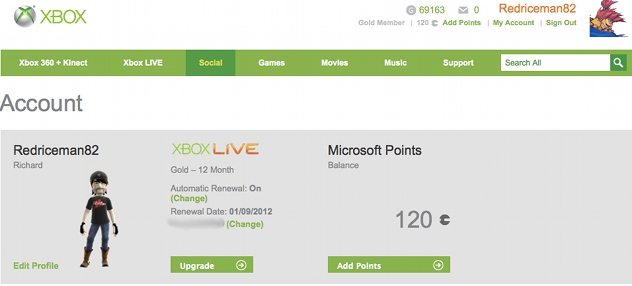 turn off auto renew xbox live