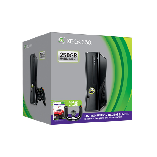 Microsoft Unveils Xbox 360 Racing Bundle With Speed Wheel Xbox360_250GB_racing_bundle