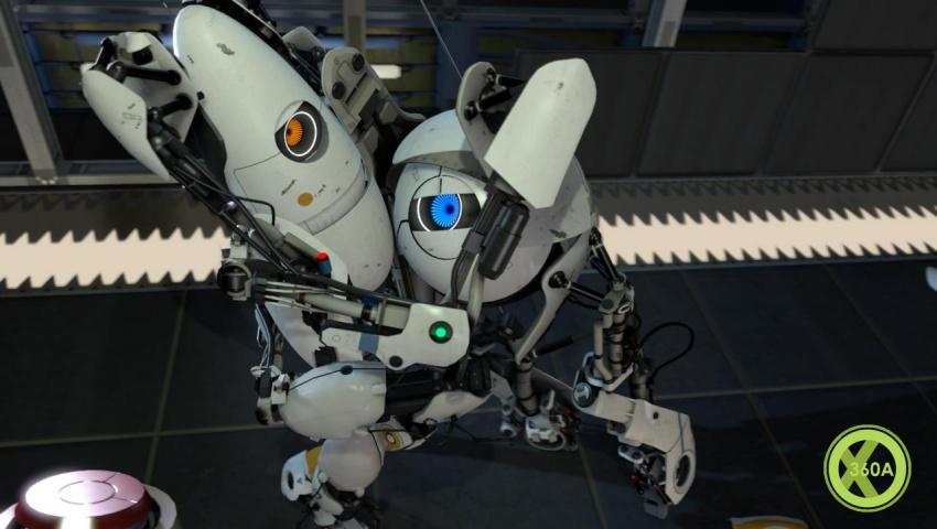 portal 2 robots hugging. Portal 2 Co-Op Pics Pounce