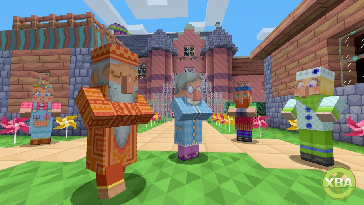 Minecraft Xbox Edition Gets a Colourful Pattern Texture Pack