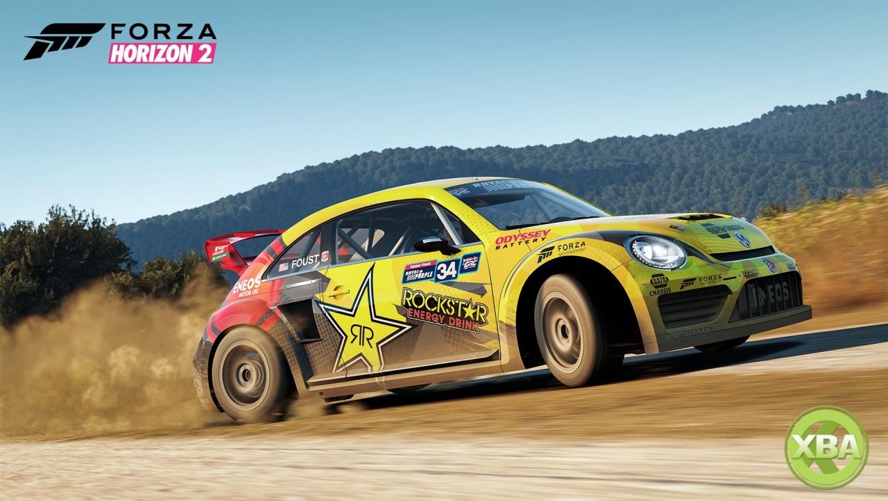 Forza horizon 2 39 s rockstar energy car pack includes tanner for Garage bmw horizon